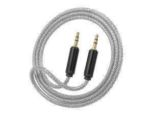 3.5 mm Jack Auxiliary Audio Cable Male to Male Auxiliary Audio Cable for Car/Phone/Laptop,Black