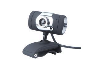 USB 2.0 0.3 Million Pixels Webcam Camera Web Cam with Microphone MIC for Computer PC Laptop Black
