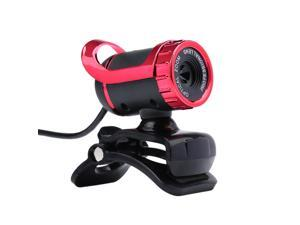 Desktop Webcam USB 2.0 Web Cam Laptop camera Built-in Sound-absorbing Microphone Video Call Webcam for PC Laptop Red
