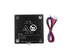 Aibecy Aluminum Heated Bed 12V Hotbed 220*220*3mm with Wire Cable Heatbed Platform Kit for Anet A8 A6 3D Printer Parts
