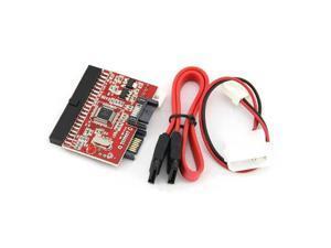 IDE to SATA SATA to IDE ATA ATAPI Serial HDD Hard Driver Disk Mutual Converter Adapter W/ Cable(Red)