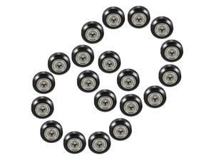 20pcs Plastic Large Model Passive Round Wheel Pulley with Bearing Gear Wheel for CNC i3 3D Printer