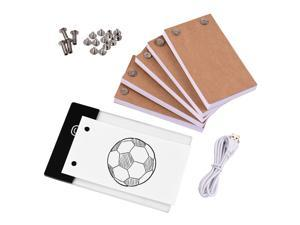 Flip Book Kit with Light Pad LED Light Box Tablet 300 Sheets Drawing Paper Flipbook with Binding Screws for Drawing Tracing Animation Sketching Cartoon Creation