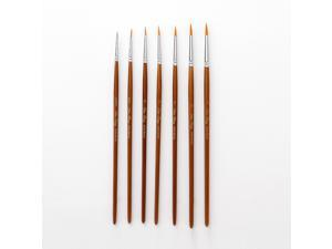 7pcs Draw Paint Brushes Kit Set Artist Paintbrush Nylon Hair Pointed Round Pen Detail Paint Brush for Artist Acrylic Aquarelle Watercolor Gouache Oil Painting for Great Art Drawing Supplies