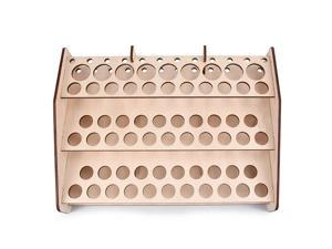 DIY Wooden Paint Rack Stand Painting Ink Bottle Storage Holder Organizer Pigment Shelf Paintings Bracket Brushes Tool Stand