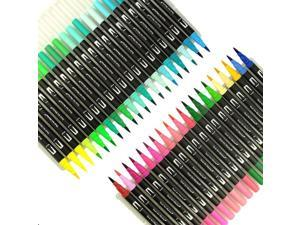 100pcs Double-end Marker Pen Painting Water-based Marker Pen Set Student Drawing Color Marker Pen Kit