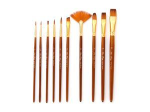 10pcs Paint Brushes Set Kit Artist Paintbrush Multiple Mediums Brushes with Nylon Hair for Artist Acrylic Aquarelle Watercolor Gouache Oil Painting for Great Art Drawing Supplies