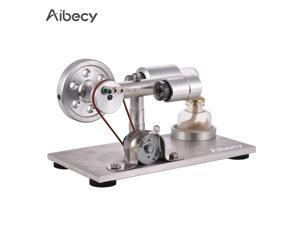 Aibecy Hot Air Stirling Engine Motor Model Electricity Power Generator with LED Physics Educational Toy Birthday Scientific Gift