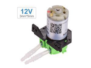 GROTHEN DC 12V Dosing Pump Peristaltic Pump Mini Water Liquid Pump Peristaltic Tube Head Self-Priming Function for Aquarium Lab Chemical Analysis Dosing Additives, L Style