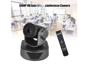 Aibecy Video Conference Camera Webcam 10X Optional Zoom Full HD 1080P Cam 52 Degree Wide Viewing Auto Focus with USB2.0 Remote Control for Business Meetings Rooms Recording Training