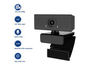 C60 Web Camera 1080P Full HD Webcam Wide Angle Support H264 With Mic Online Education Remote Video Call Camera PC Laptop Computer Monitor Camera