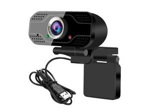 USB Webcam Video Conference Camera 1080P Full HD Live Streaming Web Cam with Built-in Microphone Computer Camera for Laptop and Desktop Calling, Conferencing, Live Streaming, Online Studying