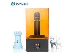 LONGER Orange 30 UV Photocuring 3D Printer Resin SLA Light Curing 3D Printer with 2K High Resolution LCD 2.8 Inch Color Touchscreen Fast Slicing Smart Support High Temperature Warning Off-line