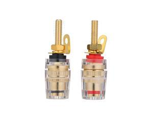 4mm Banana Plug Gold Plated Speaker Terminal Long Plug Binding Column Low Frequency Amplifier Connector