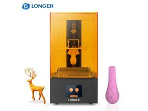 LONGER Orange 10 UV LCD Resin Printer Photocuring 3D Printer with 2.8 Inch Full Color Touchscreen Off-line Print Fast Slicing Smart Support High Temperature Warning 3.86in(L)*2.17in(W)*5.51in(H)