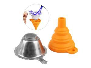 3D Printer Accessories Parts Collapsible Funnel Silicone Foldable Funnels Stainless Steel Resin Filter for Pouring Resin Back Into Bottle  for ANYCUBIC Photon Sparkmaker Kelant Orbeat D100 SLA 3D
