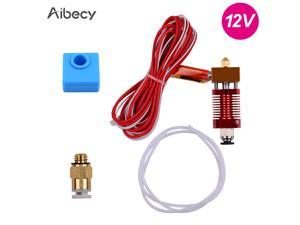 Aibecy Metal Hotend Extruder Kit with 0.4mm Nozzle Aluminum Heating Block Silicone Sock 12/24V 40W Compatible with Creality CR-10 CR-10S Ender 3 Ender 3 Pro 3D Printer
