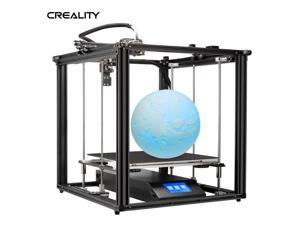 Creality 3D Ender-5 Plus 3D Printer DIY Kit Upgraded Mean Well Power Supply 350*350*400mm Large Build Volume with 4.3 Inch Touchscreen Removable Tempered Glass Plate Double Y-axis Z-axis Support Auto