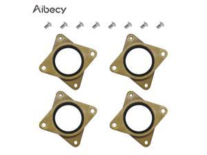 Aibecy 4pcs Brass & Rubber Stepper Motor Vibration Damper Shock Absorber Pad with M3 Screws Compatible with NEMA 17 Stepper Motor Replacement for Creality CR-10/CR-10S/CR-10 V2/Ender 3/Ender 3 Pro 3D
