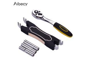 Aibecy 7/8/9mm Hexagonal Sleeve + Wrench + Dual-Use Extruder Nozzle Removal Tool 3D Printer Accessory