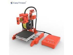 EasyThreed Mini Desktop Children 3D Printer 100*100*100mm Print Size High Precision Mute Printing with TF Card PLA Sample Filament for Kids Beginners Creativity Education Gift