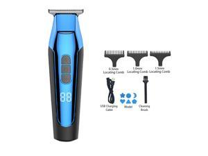 Electric Hair Trimmer Professional Rechargeable Slicked-Back Hair Cutter Home Use Adults Children Washable LCD Hair Cutting Set