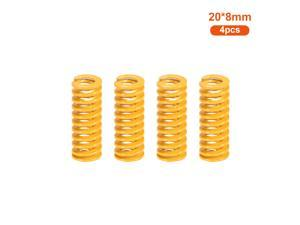 Aibecy 4pcs Upgrade Heated Bed Die Spring Compression Spring Length 20mm OD 8mm ID 4mm Compatible with Anet A8 A6 ET4 ET5 Creality 10 / 10S Ender 3 3D Printer