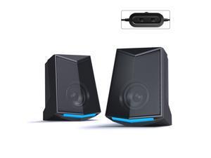 V-115 Computer Desktop Speaker Audio 2.0 Sound Channel Stereo Sound 3W Output Power USB Mini Portable Subwoofer for PC Laptop Phone Upgraded Version