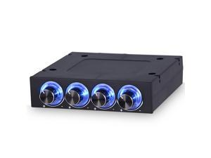 Sunshine-tipway STW 3.5 PC CPU HDD 4 Channel Fan Controller Speed Control Adjuster LED Cooling Front Panel