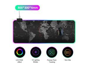 LEDs RGB Mouse Pad 14 Lighting Modes Gaming Extra Large Soft Extended Non Slip Mousepad for PC Laptop