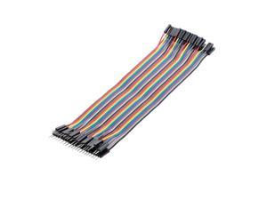 Breadboard Jumper Wires Male to Female Dupont Cable for Arduino Multicolored Ribbon Cables 40Pin 20cm