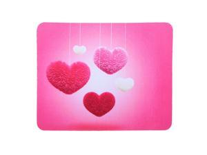 Mouse Pad Anti-Slip Mouse Mat Rubber Game Office Mousepad for Laptop Computer(Heart Pattern)