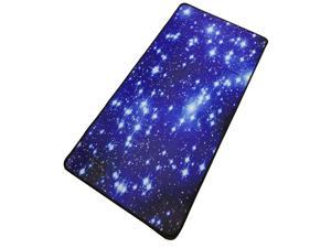 Mouse Pad Starry Sky Picture Locking Edge Large Anti-Slip Gaming Mouse Mat for PC Computer Laptop MackBook