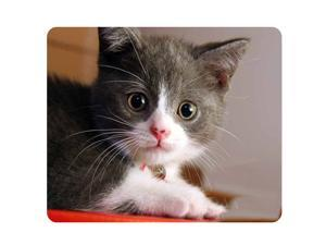 CAT-8 Mouse Pad Cute Cat Picture Anti-Slip Gaming Mouse Mat for PC Computer Laptop MackBook