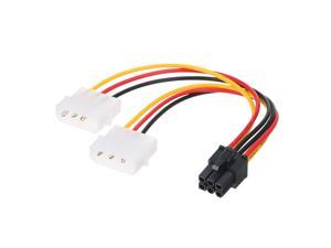 4p to 6p Power Cable Graphics Video Card 4 Pin Molex to 6 Pin PCI-Express PCIE Power Supply Cable Cord