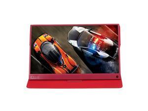 T-bao Portable Gaming Monitor Expansion Screen 1920x1080 HD IPS 15.6-inch Display LED Monitor with Leather Case for for Nintendo Switch PS4 Pro / Xbox One / Xbox One X / PC Laptop (Red)