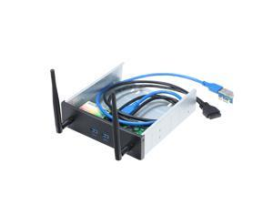 Pre-Drive Wireless Network Card CD-ROM Expansion Mobile Rack with 2 USB 3.0 Ports  600Mbps High Speed Support Dual Band