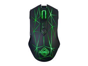 Ajazz AJ52 7 RGB Backlit Modes Wired Professional E-sport Gaming Mouse Adjustable DPI 750/1000/1250/1500/1750/2000/2500 Black+Pattern