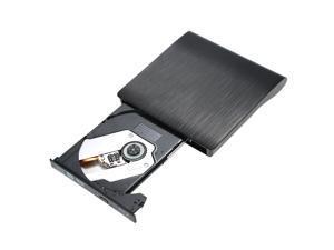 Ultra Slim External Drive DVD-RW USB 3.0 Burner Writer BD-ROM 3D Blu-Ray Player for Linux Windows Mac OS Black