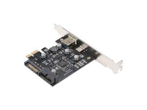 PCI-e to USB3.1 Type-C Expansion Card PCI-E to USB Fast Charge with 19Pin Front Adapter Card GEN1 5G PCI-express