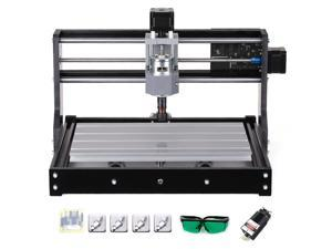 CNC3018 DIY CNC Router Kit 2-in-1 Mini Laser Engraving Machine GRBL Control 3 Axis for PCB PVC Plastic Acrylic Wood Carving Milling Engraving Machine with ER11 Collet and Protective Glasses XYZ