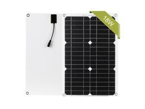 18W 12V Solar Panel Kit Off Grid Monocrystalline Module with SAE Connection Cable Kits