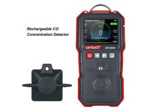 wintact High Precision CO Meter Professional Portable CO Concentration Detector with 120000 Data Logging LCD Display and Sound-light and Vibration Alarm 0-1000µmol/mol