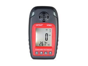 wintact WT8823 Combustible Gas Detector Gas Testing Instrument Digital Flammable Gas Tester Inflammable Gas Detector with USB Cable & Rechargeable Batteries