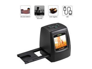 Mini Digital Film Scanner Converts 126KPK/135/110/Super 8 Films Slides Negatives to 22M Digital Photos 2.4inch LCD Screen 128MB Built-in Memory