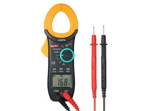NJTY Digital Clamp Meter 2000 Counts Auto Range Multimeter with NCV Test AC/DC Voltage AC Current Portable Handheld Multimeter LCD Diaplay Measuring Resistance Continuity Diode