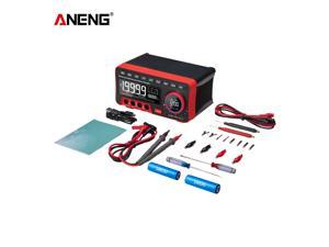 ANENG AN888S BT Audio Multimeter Multifunction Digital Display Voltage Current Meter 19999 Counts High Precision Automatic Range Desktop Universal Meter with Test Probe Kit and Batteries
