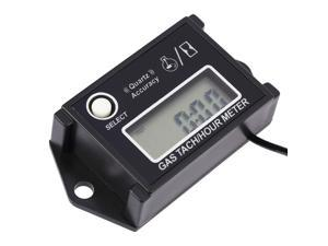 LCD Digital Tachometer Tach/Hour Meter RPM Tester for 2/4 Stroke Engine Motorcycles