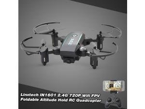 Linxtech IN1601 FPV RC Folding Drone with 720P WIFI Camera Live Video RC Quadcopter for Beginners Kids Adults w/ Altitude Hold