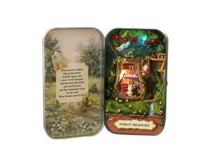Funny Wooden Puzzle Box Theater DIY Miniature Dollhouse Model Home Decoration Kids Toy Gift